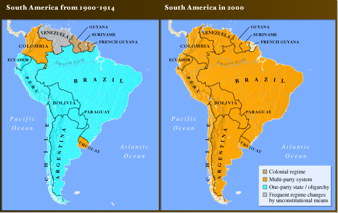 Mapping History : South America - Comparison
