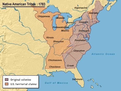 Mapping History - Map of us in 1783