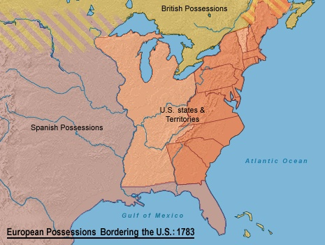 United States Map 1783 | casami